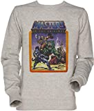 Vendax He-Man Masters of The Universe Battle Scene with Skeletor Unisexo Hombre Mujer Sudadera Jersey Gris...