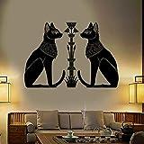 Adhesivo de vinilo para pared, puerta de gato de Egipto, Dios egipcio antiguo, adecuado para decoración de pared de sala de juegos de dormitorio de bebé