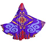 A-laddin Costume Magic Inspiral Carpet Hooded Cape for Christmas Cosplay Men's Women's Jafar Cloak with Hood for Party Costumes