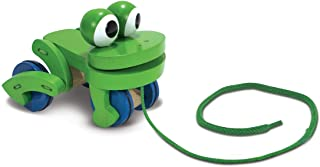Melissa and Doug Frolicking Frog Pull Toy - Activity and Amusement