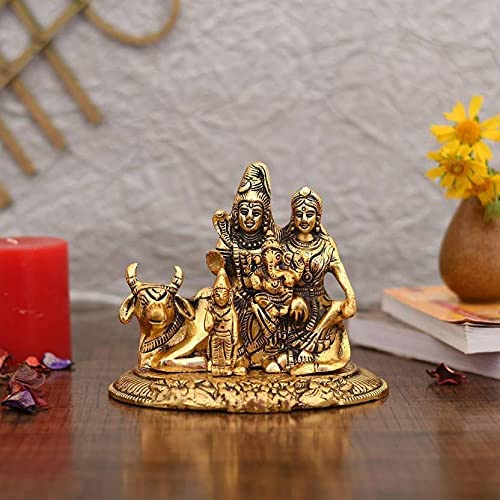 Collectible India Handcrafted Shiva Ranking TOP10 Alternative dealer Parvati Idol Shiv Par Ganesh