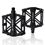 CETECK Bicycle Cycling Pedals, New Aluminum Anti Slip Durable Mountain MTB Bike Pedals