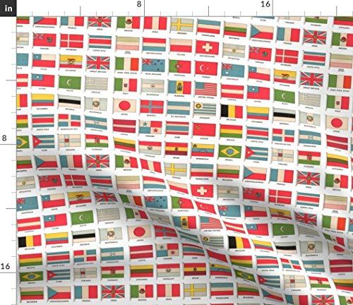 Holli Zollinger, Flagge, Länder, Flaggen, Olympia Stoffe - Persönlich Bedruckt von Spoonflower - Design von Aftermyart Gedruckt auf Baumwollstoff Klassik