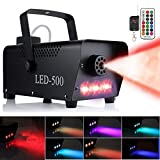 Anpro Fog Machine,500W Party Smoke Machine with LED Lights Effect for Christmas Halloween