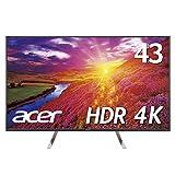 【Amazon.co.jp限定】Acer 4Kモニターディスプレイ ET430Kbmiiqppx 43インチ/HDR Ready対応/IPS/4K/16:9/5ms/DisplayPort ・HDMI