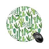 Geat Cactus - Alfombrilla de ratón redonda para ordenador portátil