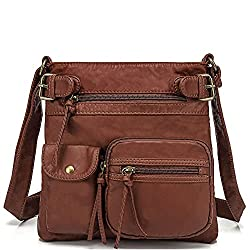 A brown Scarleton Crossbody Bag with multi-pockets one of the most comfortable purse to carry particularly on travel