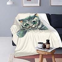 毛布 チェシャ猫 (1) 四季適用 マイクロファイバー フランネル 肌触り抜群 大判 軽量 防寒 静電気防止 暖かくて快適 ブランケット オールシーズン 洗える おしゃれ 冷房対策 秋冬