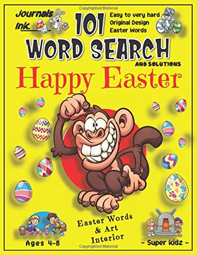 101 Word Search for Kids: SUPER KIDZ Book. Children - Ages 4-8 (US Edition). Custom EASTER Themed Words & Cute Art Interior. Monkey Animal. 101 ... for a fun activity gift! (Superkidz - WSM9)