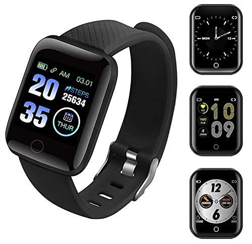Smartwatch,Reloj Inteligente con Pulsómetro,Cronómetros,Calorías,Monitor de Sueño,Podómetro Pulsera Actividad Inteligente Impermeable IP68 Smartwatch Hombre Reloj Deportivo para Android iOS