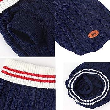 NICEDOG Chien de Compagnie Chien Pull, Pur Coton Animal de Compagnie Manteau, Chiot Pull-Overs Sweater Jacket, pour Chiens de Petite Taille Moyenne Et Grande Taille (Color : Blue, Size : M)