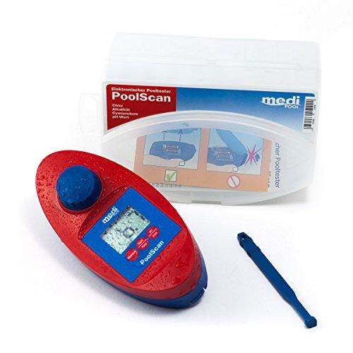 PoolScan - Elektronischer Pooltester für Chlor und pH-Wert Messung von mediPOOL inkl. 60 Testtabletten - Poolwasser - Messgerät für den anspruchsvollen privaten Schwimmbad- und Whirlpool Betreiber (baugleich mit Scuba II)
