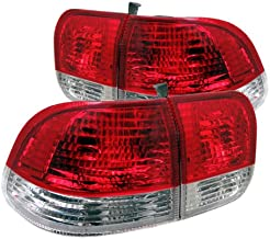 Honda Civic 96-98 4Dr Tail Lights - Red Clear