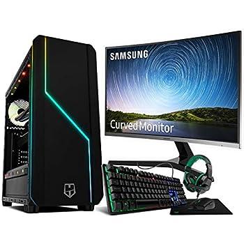 Megamania PC Gaming AMD Ryzen 7 2700 (8 Núcleos up to 4,1Ghz) | 16GB DDR4 | SSD 480GB + 1TB HDD Esclavo | Radeon RX580 8GB | WiFi WiFi + Monitor LED Curvo 24