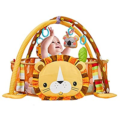 Amazon - 30% Off on  Baby Play Mat Tummy Time Mat Baby Activity Center 3-in-1 Infant Playmat Baby