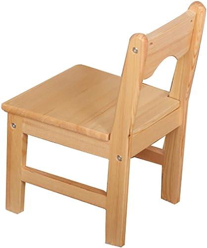 ZH Table Et Chaises pour Les Tout-Petits, Table De Jeux D'ActivitéS en Bois Massif pour Enfants, Table Dessin, SièGe Robuste en Bois Dur, Finition Naturelle