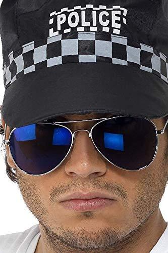 Smiffys - Verspiegelde pilotenbril Pornobril Zonnebril Blauw
