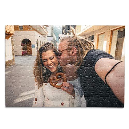 Kopierladen Karnath GmbH Fotopuzzle mit eigenen Bildern selbst gestalten, Puzzle mit eigenem Foto inkl. Schachtel - 120 Teile, 29x20 cm - personalisiertes Fotogeschenk