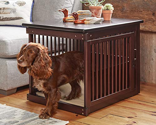 Orvis Wooden End-Table Crate/Medium, Dark Brown, Medium