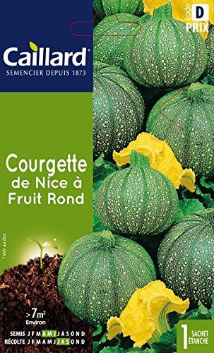 Caillard PFCC12502 Graines de Courgette de Nice à Fruit Rond