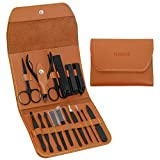 Manicure Set Professional Stainless Steel Nail Clipper Tools Pedicure Kit with PU Leather