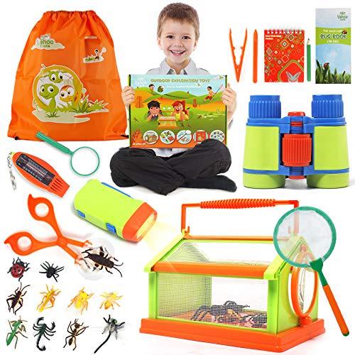 Lehoo Castle Kit de Exploracion Aventura al Aire Libre 23 Pcs Bug Catcher Kit para niños Stem Educativo Bug Catcher Kit Juguetes Regalo para niños Camping Senderismo Aventura