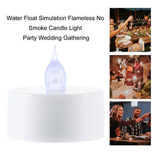 FISOUL Kerze mit Wasserschwimmer, flammenlos, kein Rauch, für Partys, Hochzeiten, Versammlungen