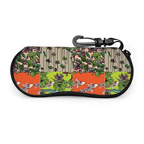 AOOEDM Retro motorcycle pattern Glasses Case Spectacle Case Eyeglass Case for Unisex