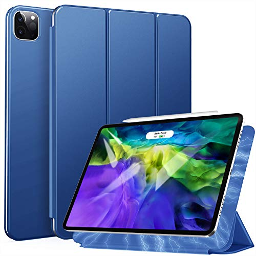 ZtotopCase Magnetic Case for iPad Pro 11 2020, Ultra Slim Smart Magnetic Back,Trifold Stand Protective Cover with Auto Wake/Sleep for 2020 iPad Pro 11 inch, Blue
