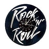 Smotly Vinilo Pared Reloj, Grandes Relojes de la música Rock Tema de diseño decoración de la Pared de Silencio, Regalos Hechos a Mano Reloj de Pared.