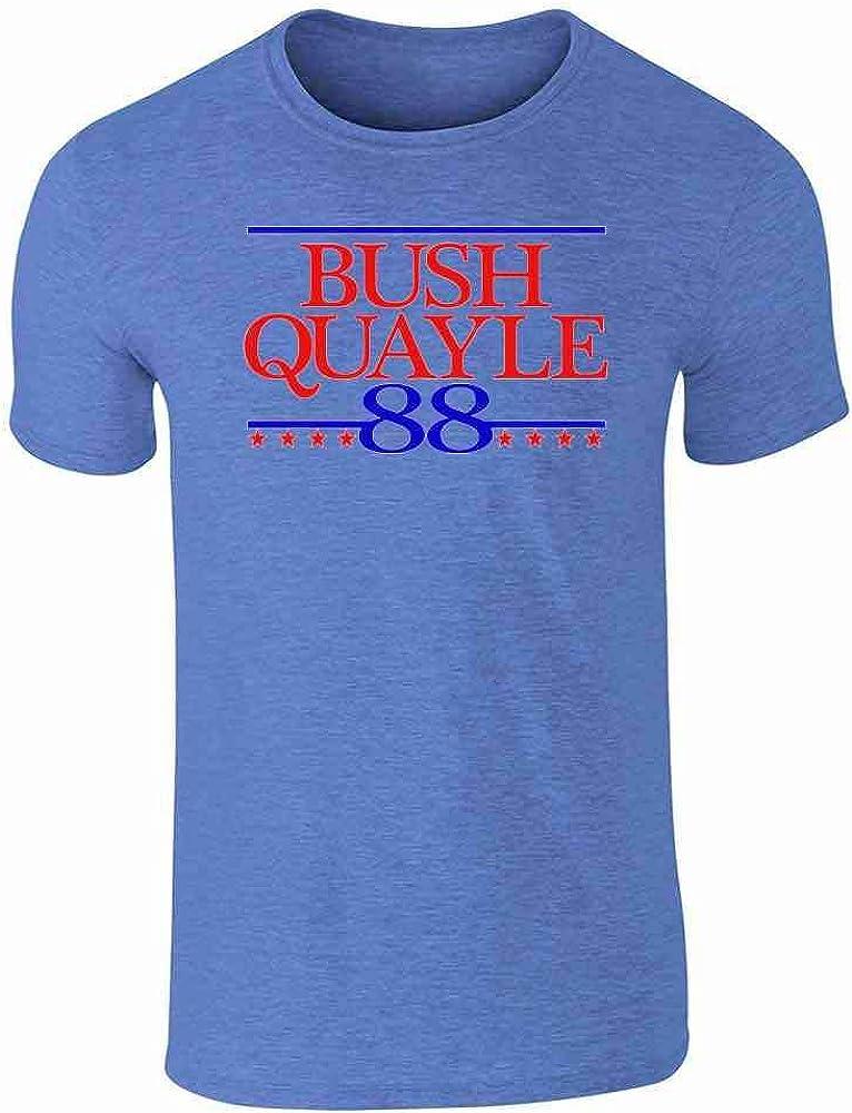 President Reagan Bush JFK Clinton Vintage Campaign Graphic Tee T-Shirt for Men