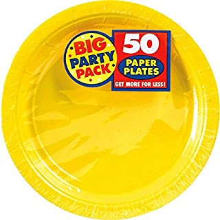"Amscan 640013.09 Yellow Sunshine Big Party Pack Paper Plates, 7"" 50 Plates (B001QF5ZDK) | Amazon price tracker / tracking, Amazon price history charts, Amazon price watches, Amazon price drop alerts"