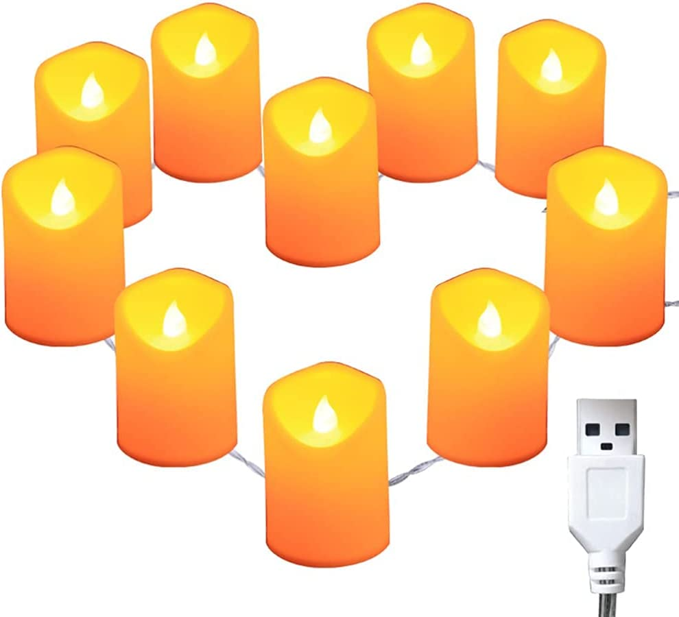 Opening large release sale Traditional LED flameless Candle 4.9ft Latest item Flameless Led 10 Candles