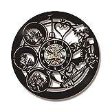 RelaxLife Relojes De Pared Caracteres 3D Registro Decorativo Reloj Hueco...