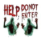 Wishstar Halloween Blutige Aufkleber, Halloween Sticker