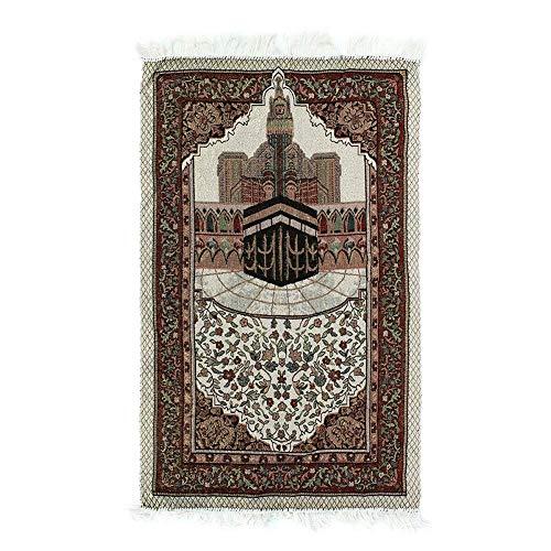 Plegaria Alfombra 110x65cm Mantel Borla Tapiz Suave Ligero Bordado Dormitorio Alfombra Decoración Regalo Portátil Hogar Anket Islámico Musulmán