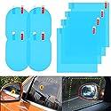 Mingco 8PCS Auto Rückspiegel Film, RegenschutzfolieAuto, Auto Rückspiegel Seitenscheibe, 360° Adjustable Vision HD für Autospiegel und Seitenfenster.