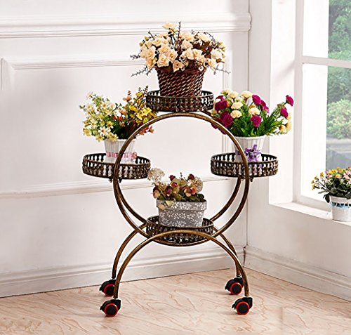 Stand de Fleur/Plante Stand de métal Floral Stand de Stockage de Jardin intérieur/extérieur (Blanc) (Color : 4)