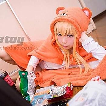 Himouto! Umaru-chan cosplay Cloak Anime Umaru chan Doma Umaru Cosplay Costume Cloaks Cap Hoodie+tshirt+pants+wig full set One Size full set