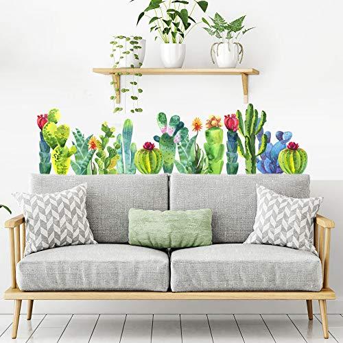 UVCD0056 Muurstickers stickers vetplanten bloemen cactus Wanddecoratie woonkamer keuken slaapkamer ingang.