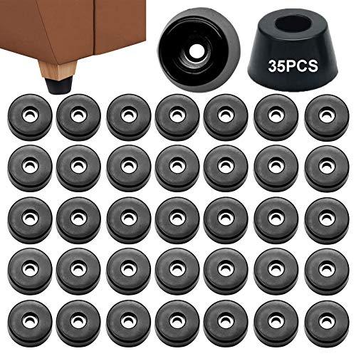 Topes De Goma Redondos 35 Pcs Pies Goma Cónicos Pie Goma Negra Parachoques Pies Goma Topes De Goma Para Muebles Mesa Escritorio Amplificador Altavoz Almohadilla Para Las Piernas 2 x 1,5 x 0,8 Cm