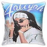 Tengyuntong Throw Square Throw Pillowcover/PillowcaseAaliyah Pattern Algodón Poliéster Fundas Sofá Decoración para el hogar 18X 18/45 X 45 cm
