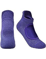 BAONUANM Calcetines De Mujer,3 Par Anti Slip Breathable Yoga Socks Mujeres Deportes Pilates Transpirables Calcetines Algodón Ballet Tacón Protector Calcetines De Baile Zapatillas Regalo