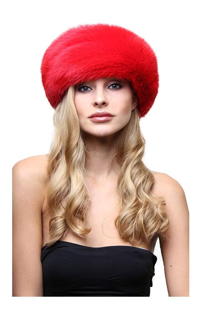 Fox Fur Headband, Real Fox Fur Head Band, Designer Fur Head Band - Marc Kaufman Furs (Extra Large (24), Red)