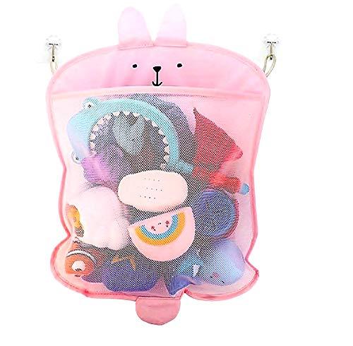 Toy Organizer - Dusche - Babywanne - Aufbewahrung - Kinder - rosa Hase - Game Organizer - Space Saver - Netztasche - Geschenkidee für Weihnachten und Geburtstag