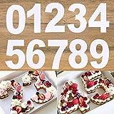 0 – 8 plantillas numerales para tartas de 8 pulgadas con números arábigos para hacer pasteles rellenos decorativos en capas para hornear herramientas para bricolaje