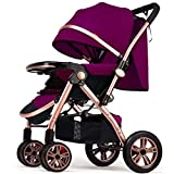 Ljf Hot Mom Passeggino Carrozzina Sistema di Viaggio con Sedile Girevole a 360 Gradi Pieghevole per Bambino da 0 a 3 Anni