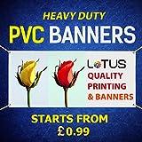 Bannière en PVC personnalisable pour extérieur publicitaire, anniversaire et fête, 5ft by 4ft