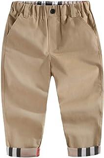 HOSD Ropa Infantil 2019 otoño e Invierno Nuevo algodón niño Pantalones Grandes para niños Pantalones Casuales Pantalones d...
