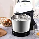 Cyrox 2 in 1 Twin Hand and Stand Mixer | Ice-Cream Egg Cake/Cream Mix, Egg Bitter, Hand Blender for Home Kitchen with Stainless Steel Bowl and Table Stand